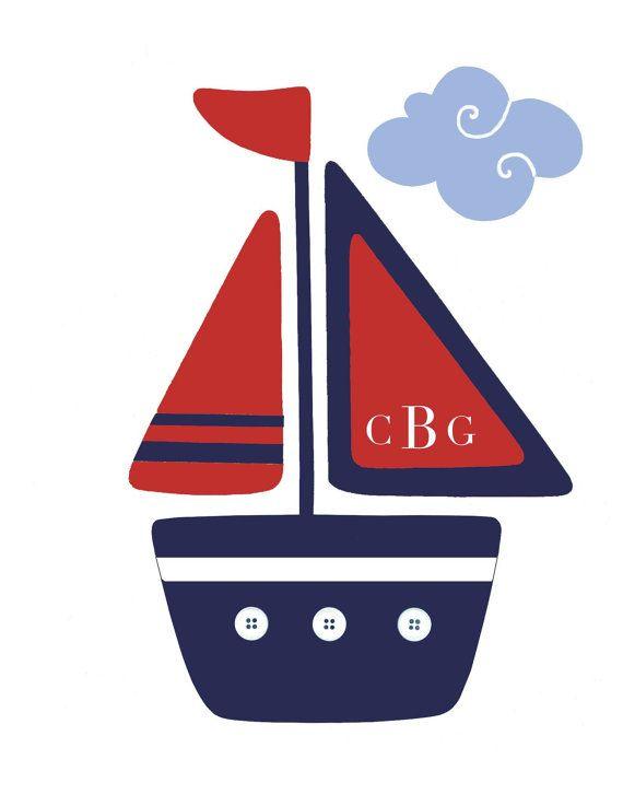 Nautical Nursery Boats, Pottery Barn Madras Bedding Art, Personalized Kids  Sailboats, Ocean Bathroom