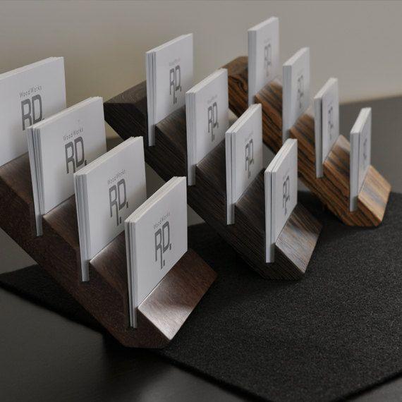 Multiple Business Card Holder Tier Business Card By Woodworksrd Business Card Displays Business Card Holders Business Card Holder Display