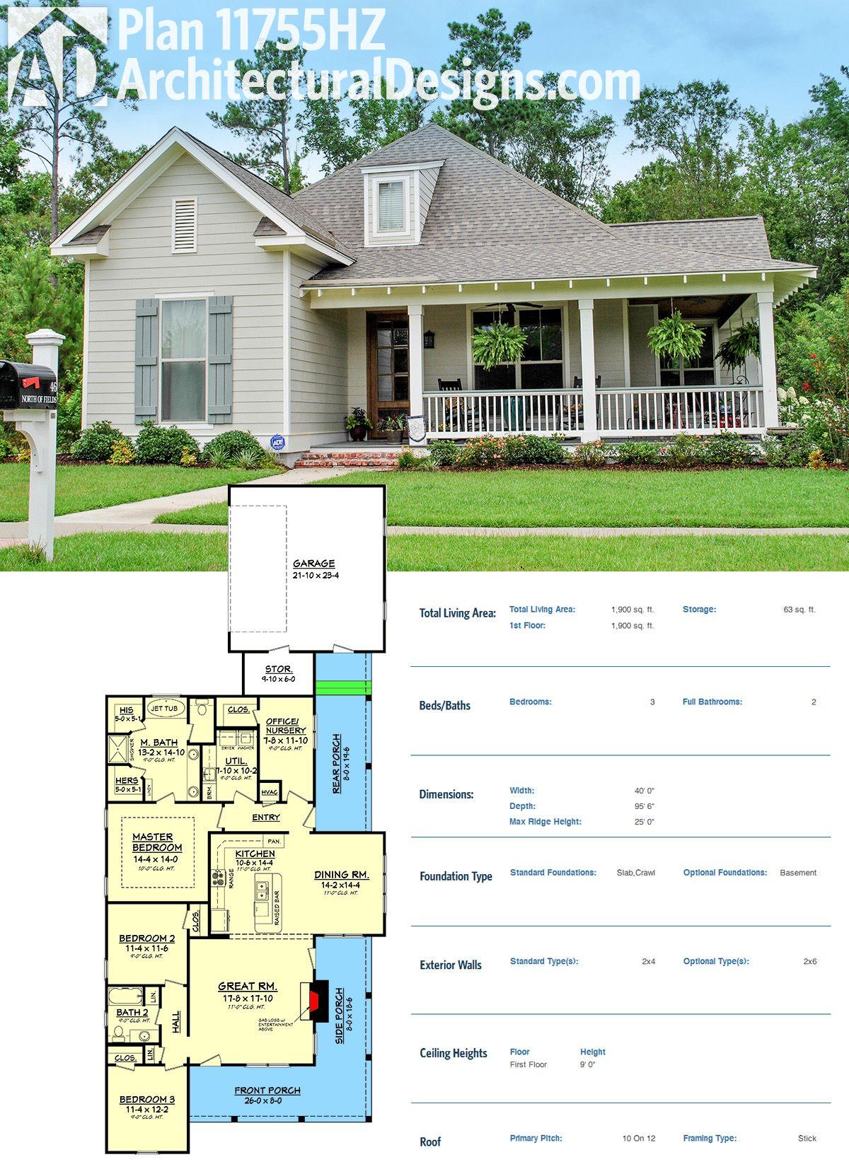 Plan HZ Cozy 3 Bedroom Cottage House Plan