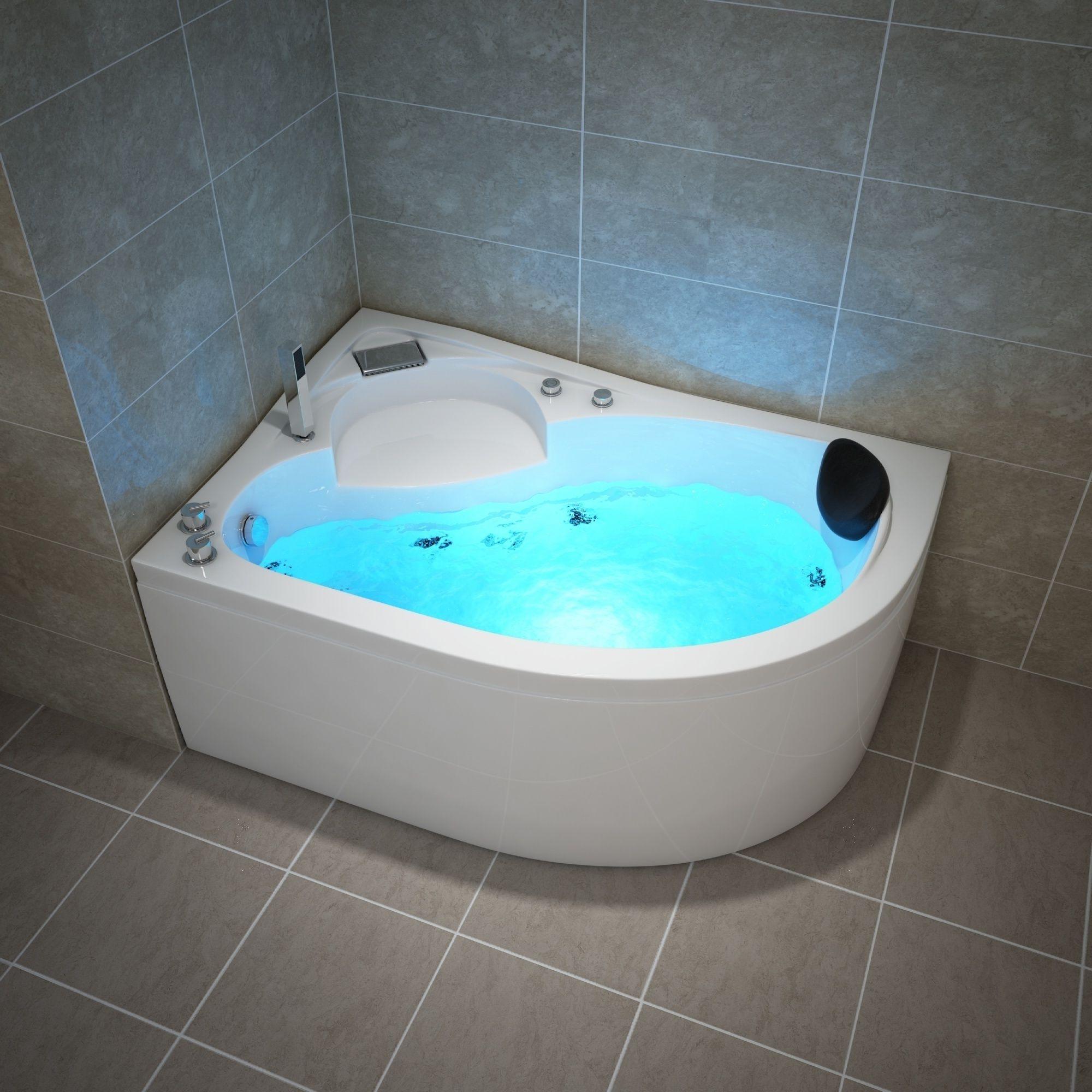 Capri 150x100 Rechts Whirlpool Badewanne Dampfdusche Jacuzzi