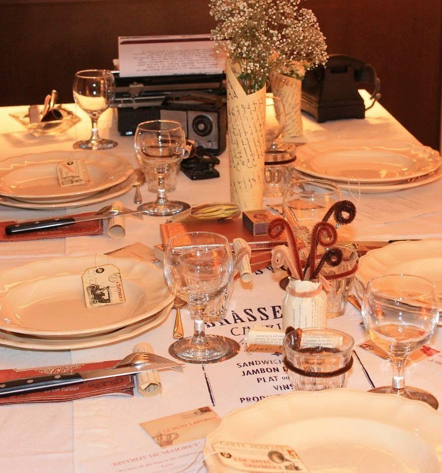 """Idee Deco Chic Et Choc ma table """"36, quai des orfèvres"""" - page fb : déco de tables"""