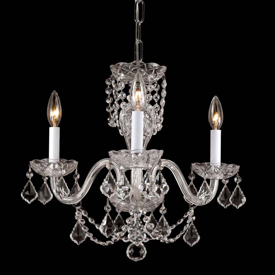 Weinstock illuminations 16 in 3 light hand polished chrome crystal weinstock illuminations 16 in 3 light hand polished chrome crystal candle chandelier arubaitofo Gallery