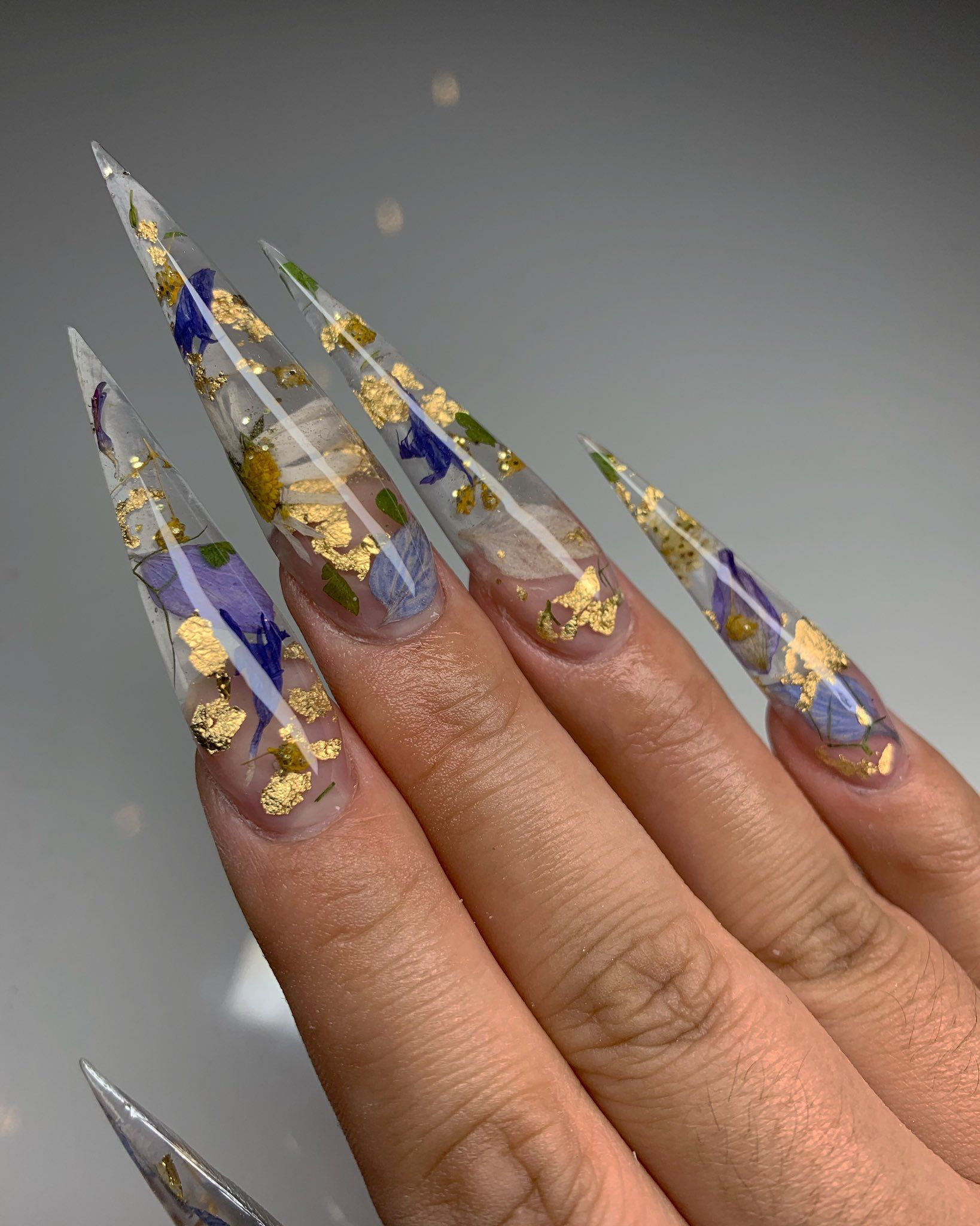 Jas On Twitter Clear Acrylic Nails Swag Nails Luxury Nails