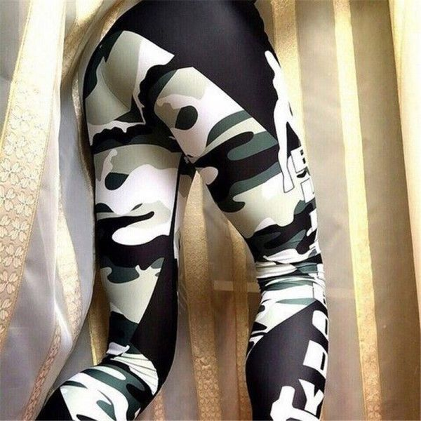 Women/'s Print Pattern Black Hot Flower Fashion Leggings 8-10-12 UK Yoga Jeggings