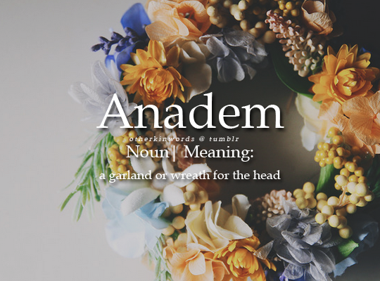 Garland or wreathe for the head | Aesthetic | 50 words, Words, Short