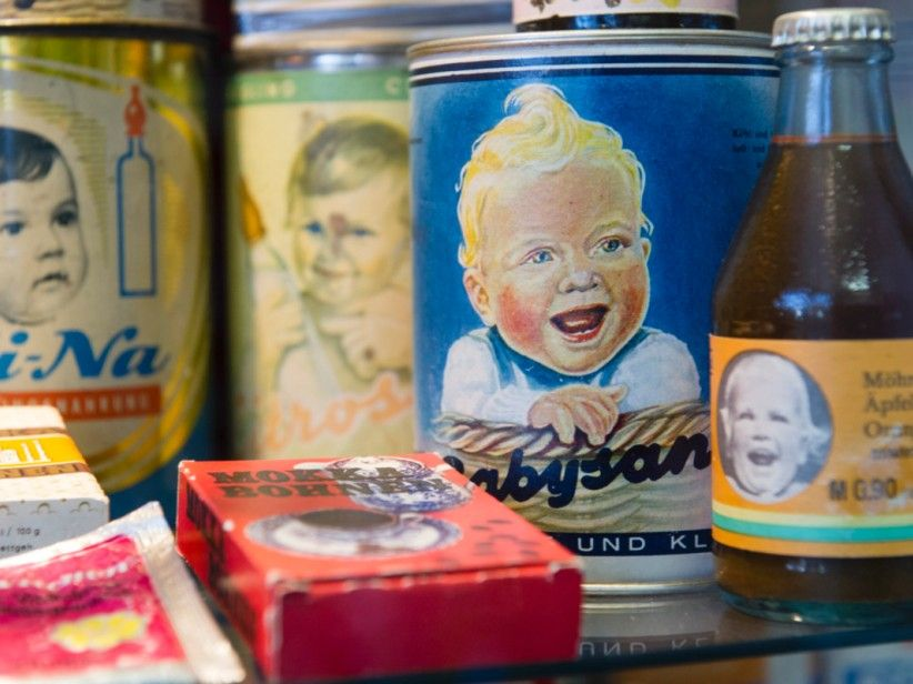 Baby food from the GDR. Not at all creepy
