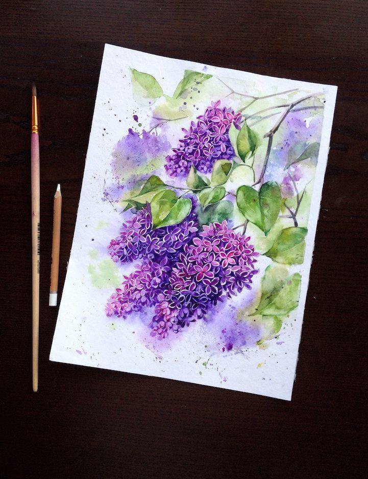 Peindre A L Aquarelle Comment Peindre Un Bouquet De Fleurs A L