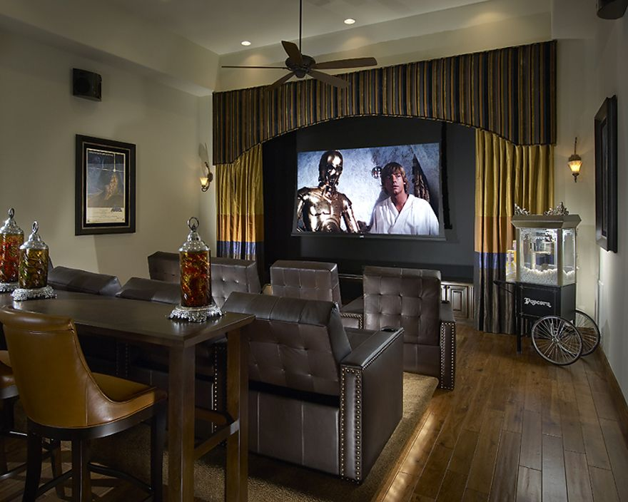 15 Interesting Media Rooms And Theaters With Bars