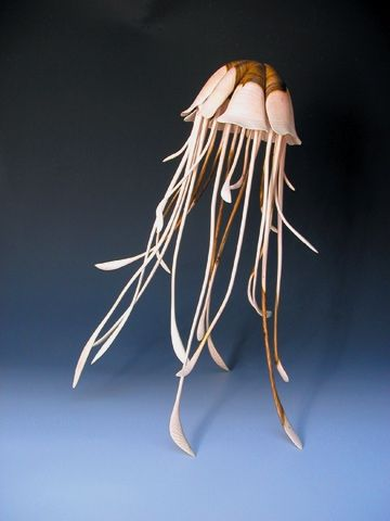 Turned wood jellyfish. Alain Mailland