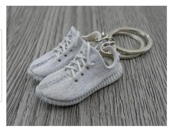Mini Sneaker Keychains Adidas Yeezy Boost 350 V.2 Black Red