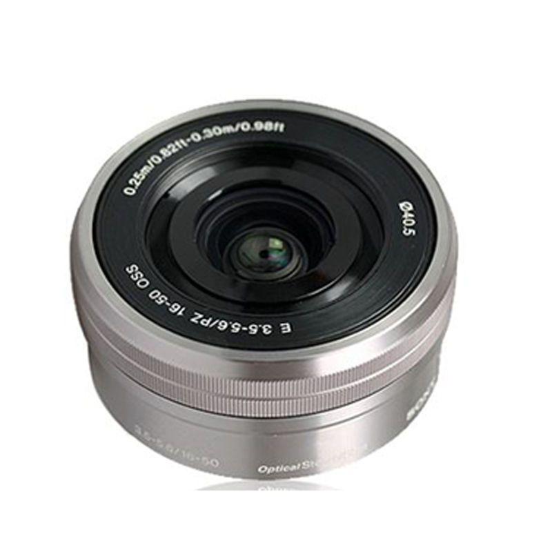 New Sony Sel Selp1650 16 50mm F 3 5 5 6 Oss Lens Silver E Mount Oss Lens E Mount