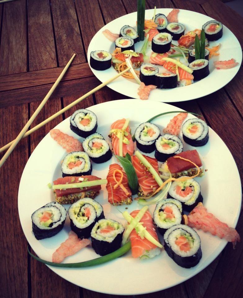 Today i made sushi. Yum!