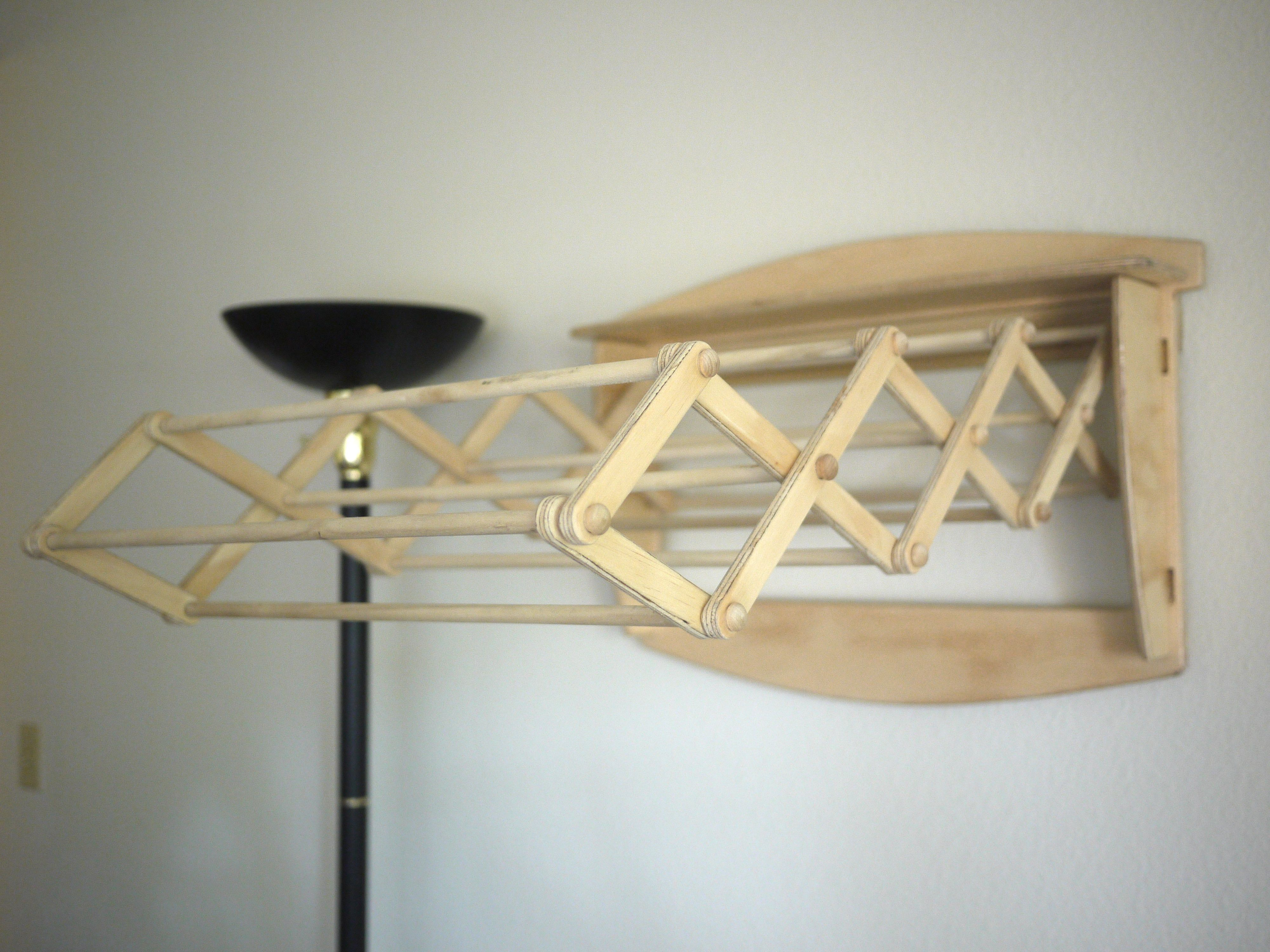 orig clothes mfgd tier tree loading zoom wooden primitive w paint dexter drying in pease rack white ma