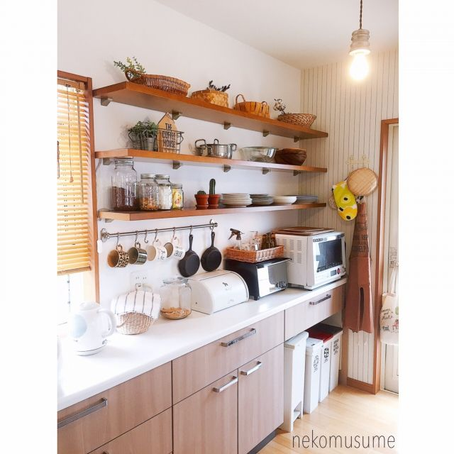 キッチン 見せる収納 ニトリの本に掲載されました キッチン背面 キッチン収納 などのインテリア実例 2016 09 15 16 08 42 Roomclip ルームクリップ インテリア インテリア 家具 キッチン間取り