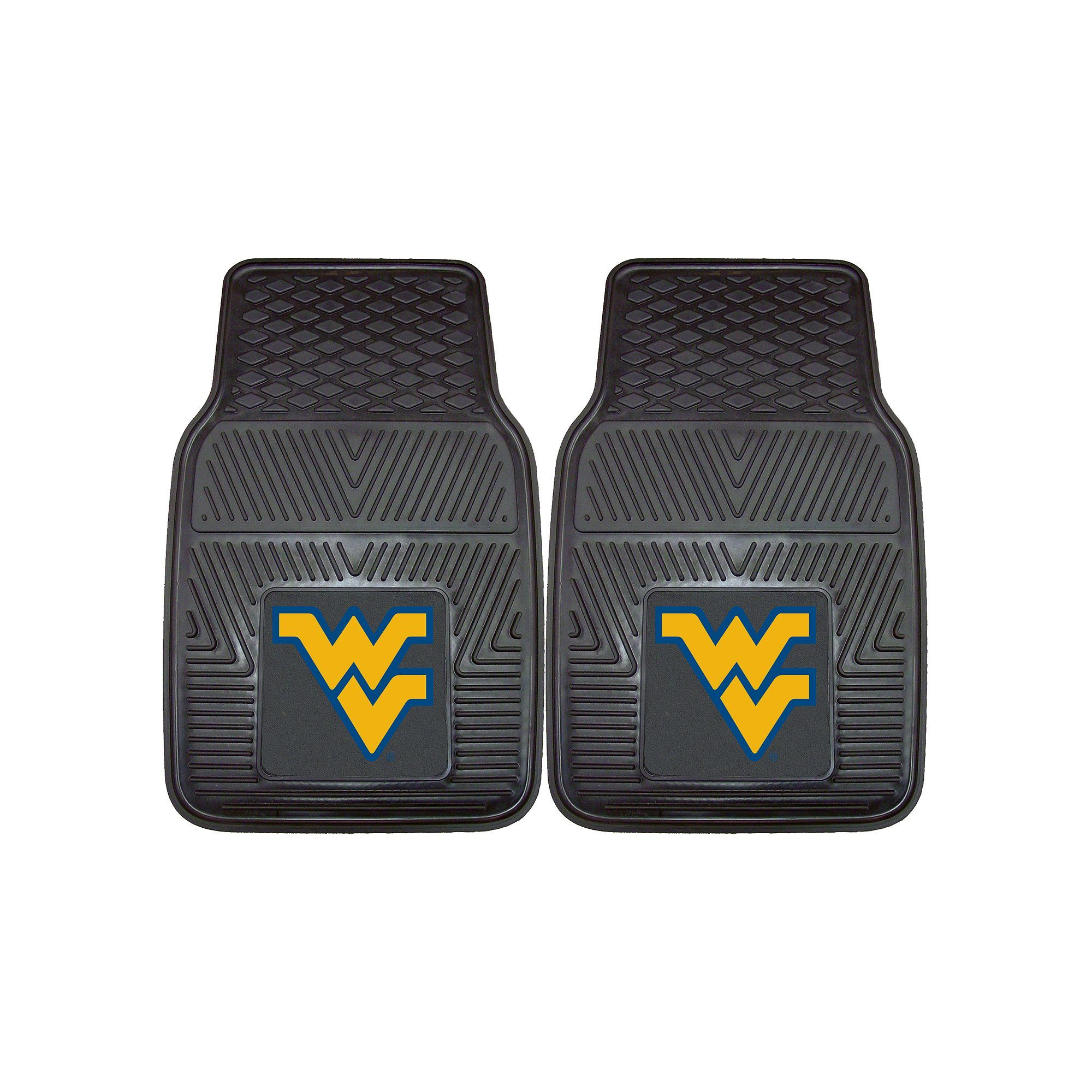 Fanmats 2-pk. West Virginia Mountaineers Car Floor Mats, Multicolor