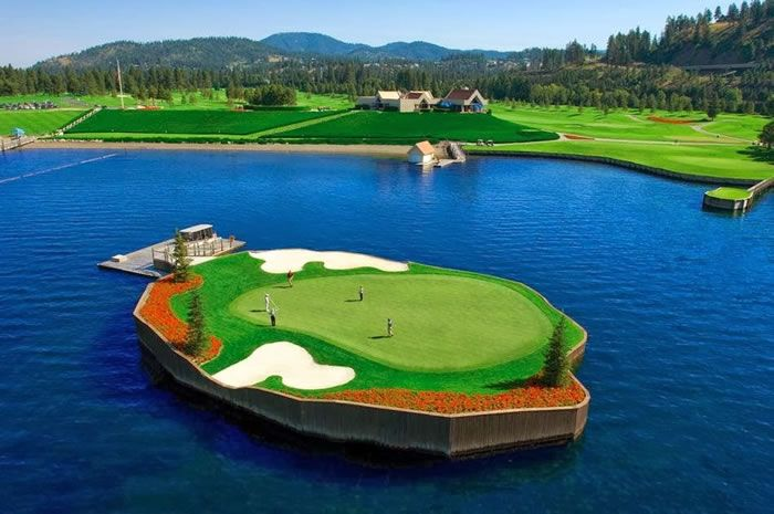 Improve Golf Swing On This Awesome Floating Golf Course