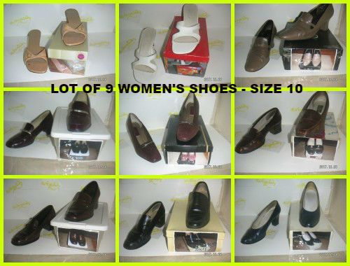 ebeab4bf35e4 Bunch of WOMEN S SHOES SIZE 10 Office Pump Sandal Chunky Heel 9-LOT Shoe  VARIETY