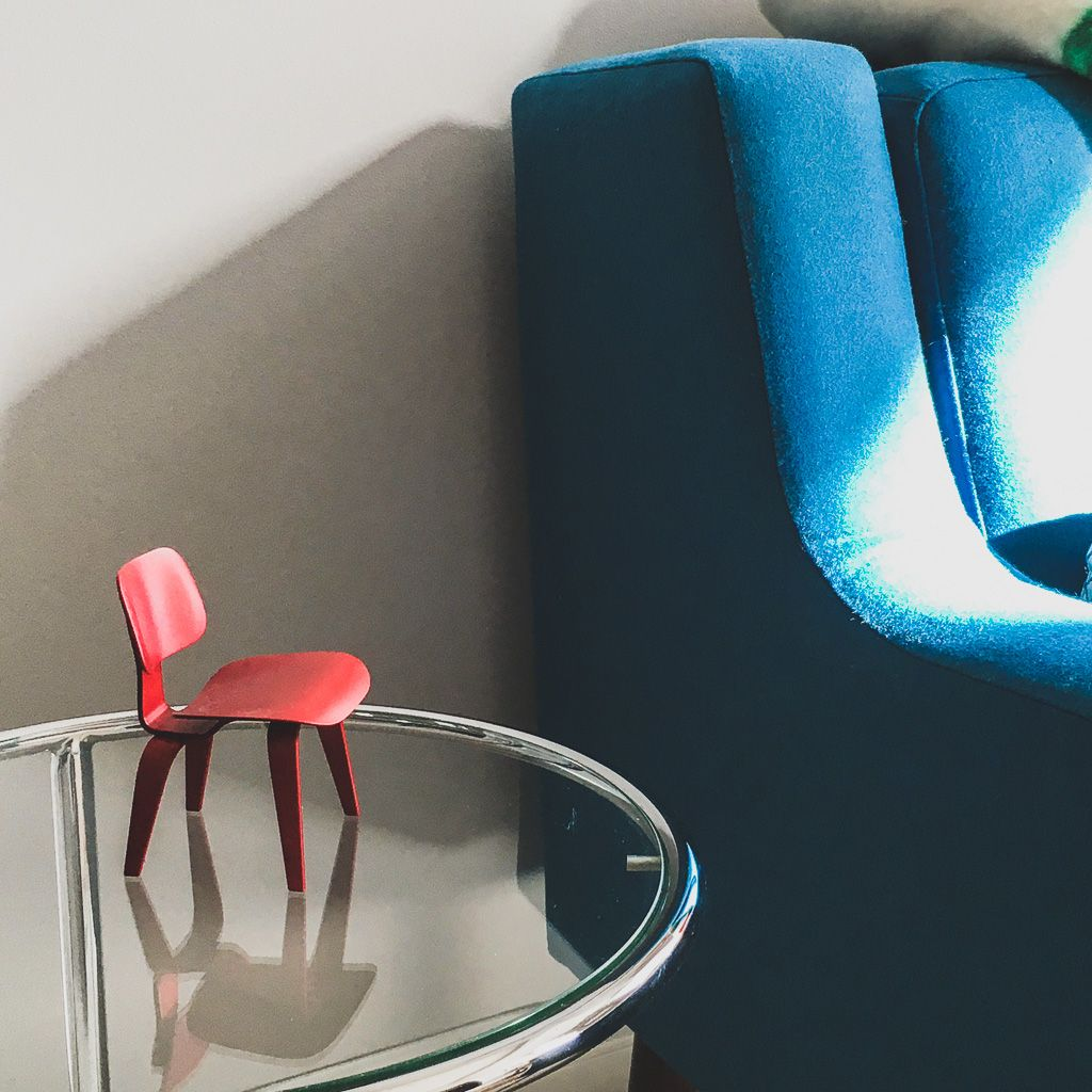 A Real Herman Miller Miniature With Eq3 Elise Sofa I Shot This After Helping Client Figure Out New E Such Treat To Do Turquoise