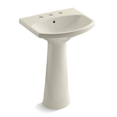 Kohler Cimarron Ceramic 23 Pedestal Bathroom Sink With Overflow