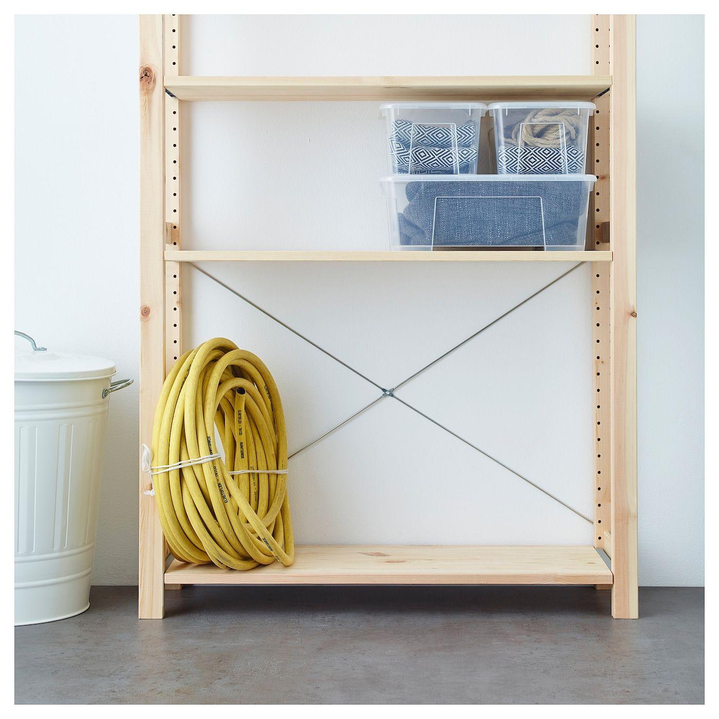 Ikea Scaffali Legno Ivar ivar scaffale - pino 89x30x179 cm (con immagini) | idee