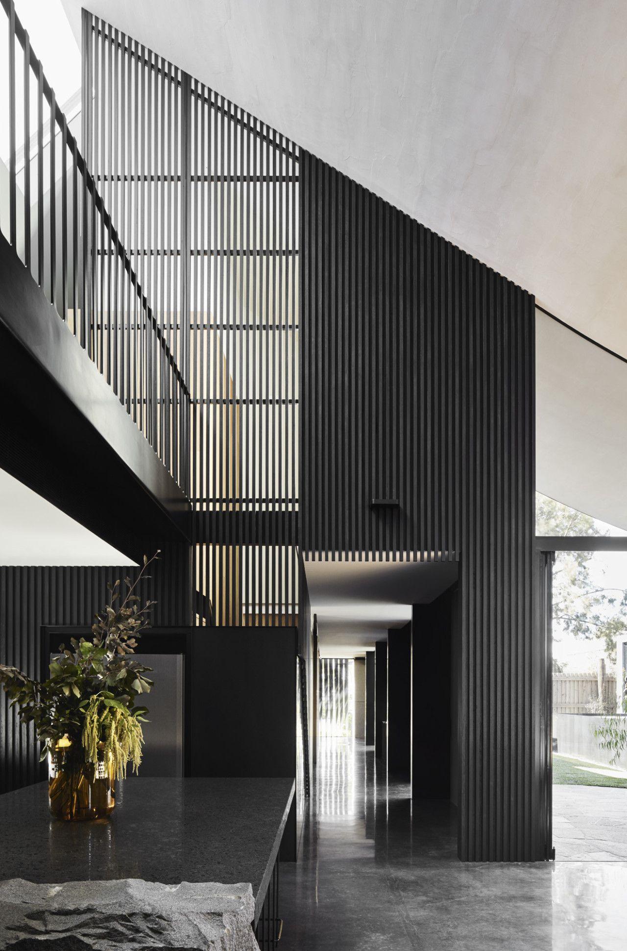 Cornerstone House Pays Tribute To Stone Quarries In 2020 Australian Interior Design Timber Slats Interior Design Awards
