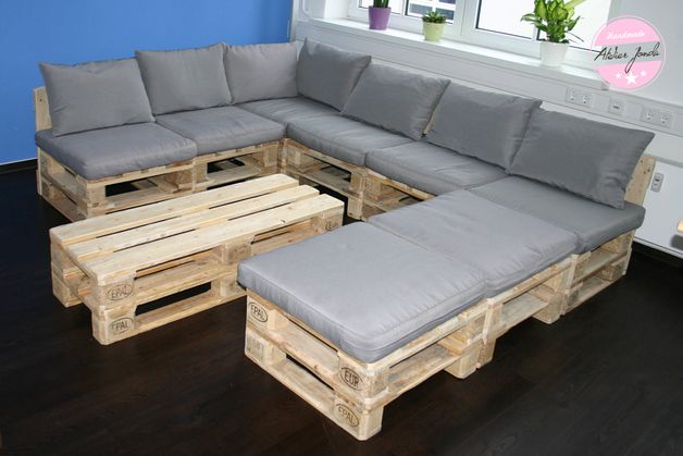 17 best images about palleten-möbel on pinterest | lounge sofa, Garten und Bauen