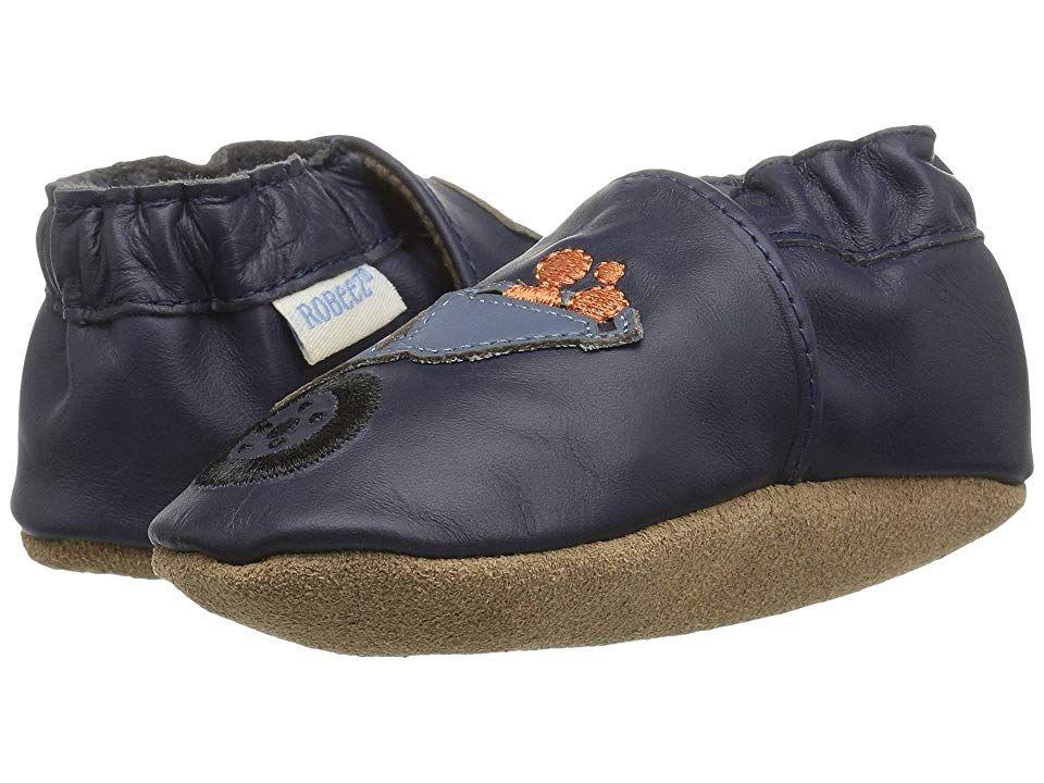 Robeez Big Dig Soft Sole Infant Toddler Navy Boy S Shoes For Robeez Size Chart Let Him Get His Fe Toddler Boy Shoes Soft Sole Shoes Baby Toddler