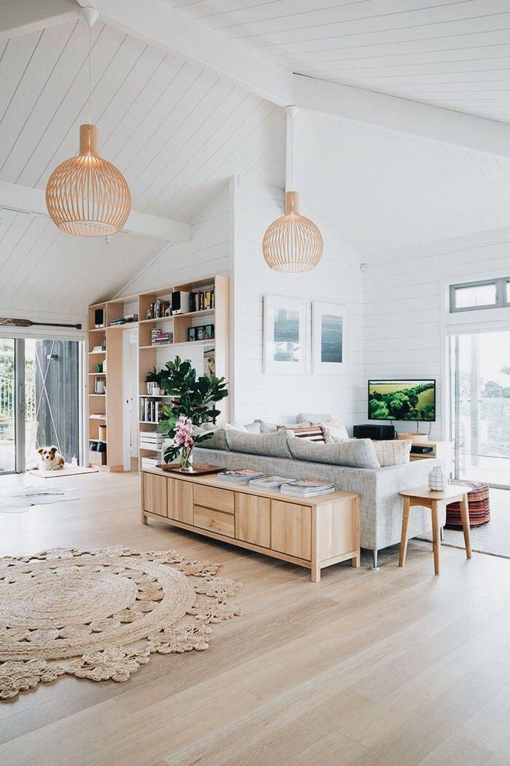 Awesome 38 Stunning Modern Coastal Living Room Decoration Ideas