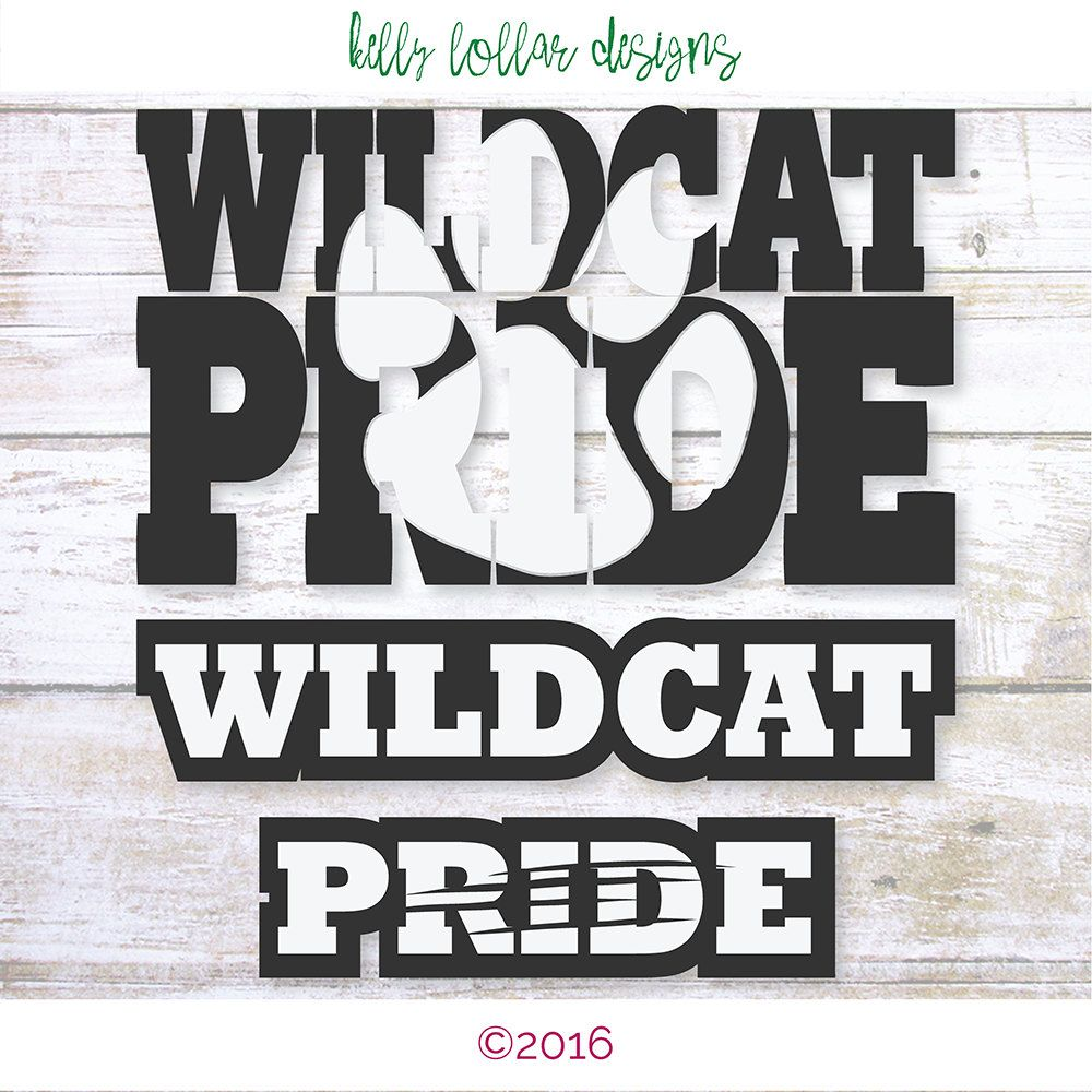 2 Wildcat Pride Svgs Wildcat Football High School Shirt
