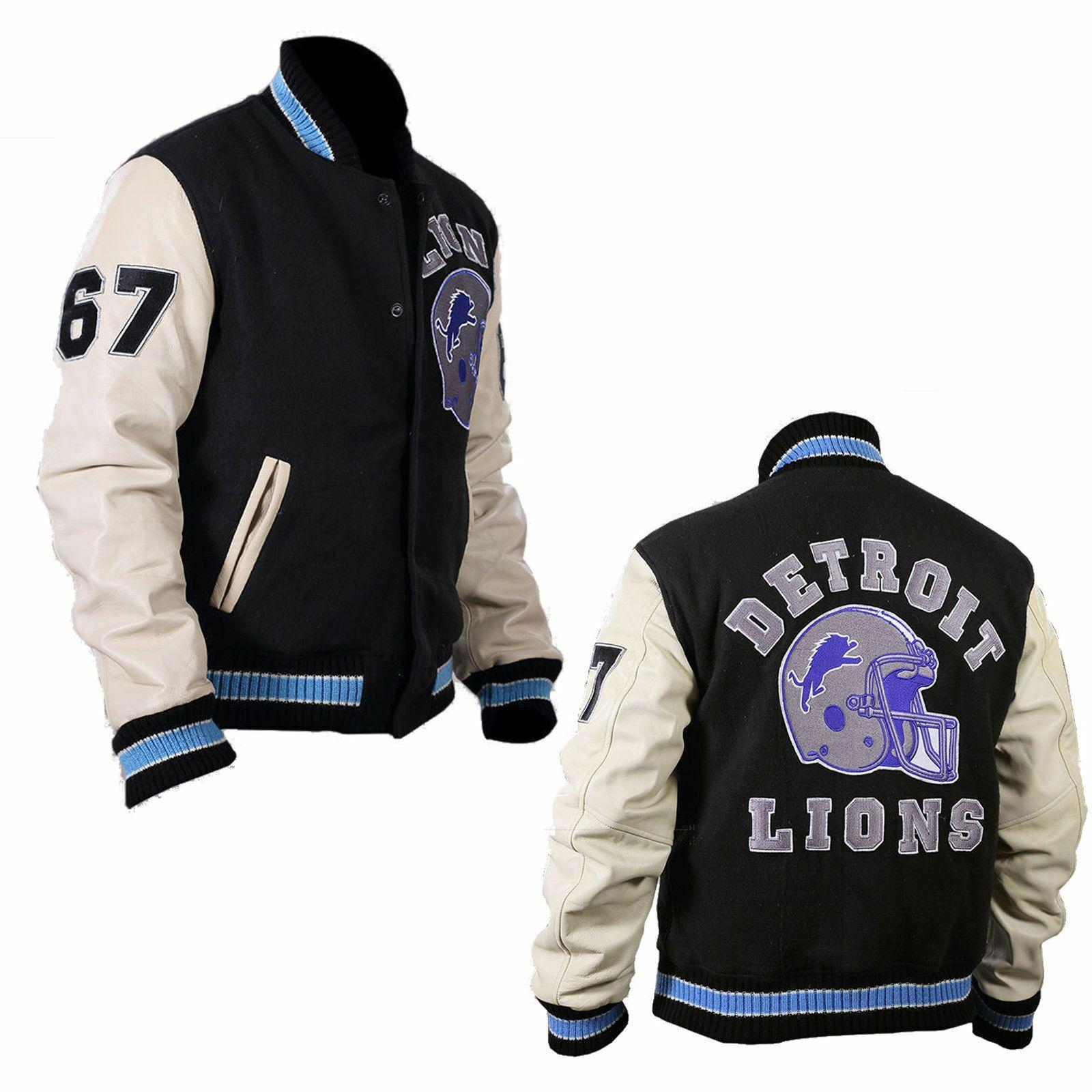 Beverly Hills Cop Eddie Murphy Axel Foley Detroit Lions Varsity Letterman Jacket Ebay In 2021 Collegejacke Detroit Lions Eddie Murphy