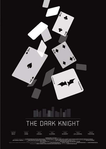 the dark knight 2008 minimal movie poster by david o