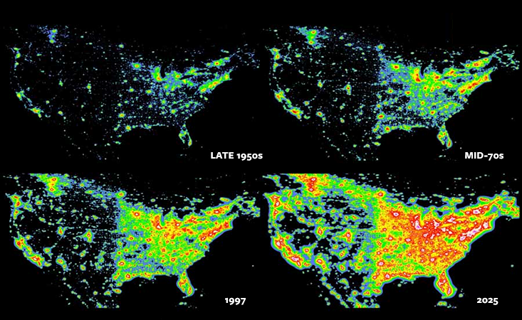 ARTIFICIAL SKIES A map of artificial night sky brightness due to ...