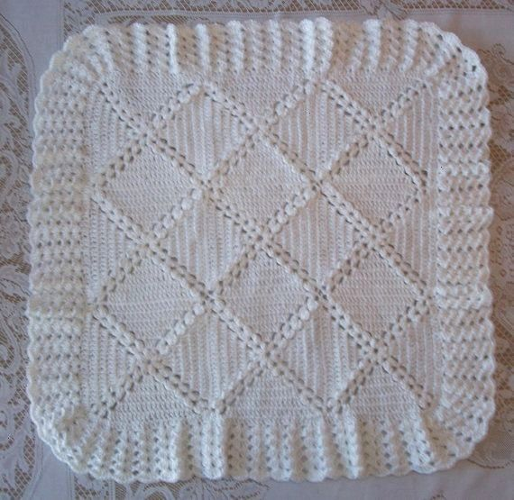 White Baby Blanket and Bonnet or Hat Perfect For Christenings Baby Shower Gift for Take Me HomebabyCrochet White Baby Blanket and Bonnet or Hat Perfect For Christenings B...