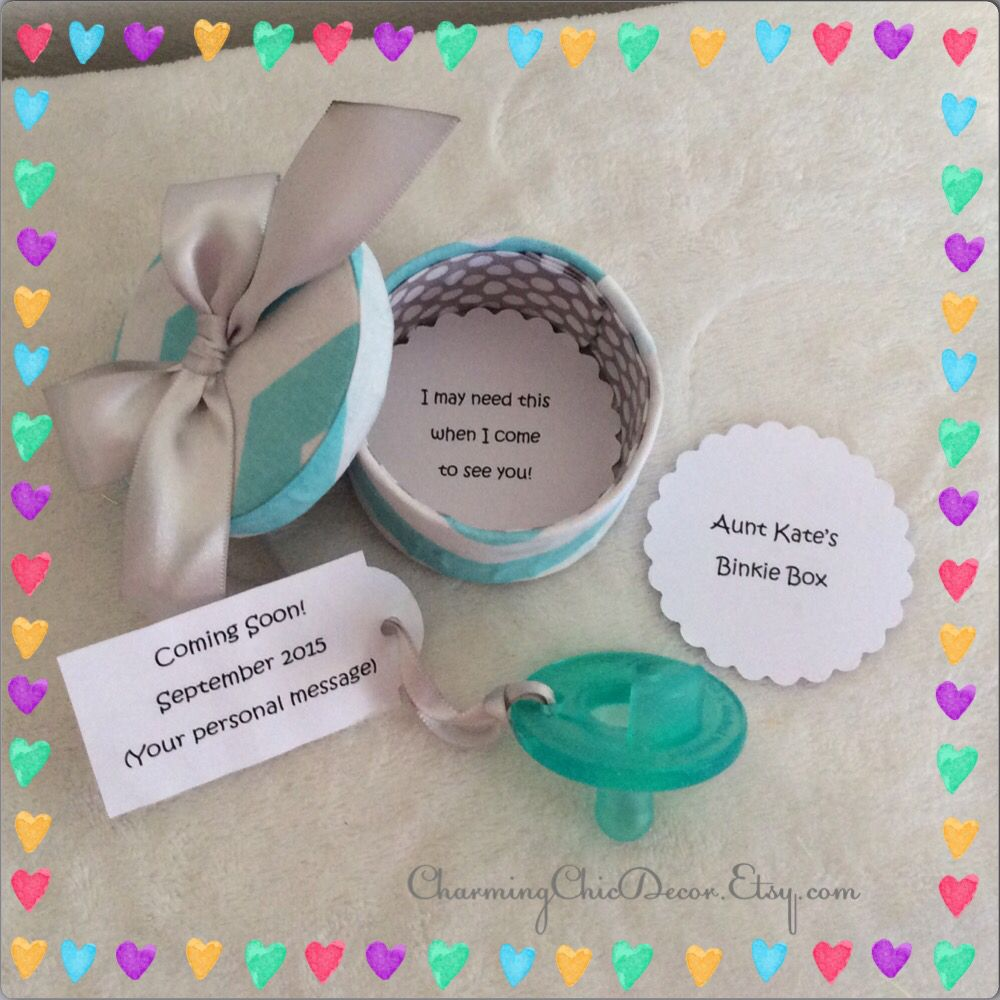 Cute Binkie Box Pregnancy Announcement This adorable sweet gift – Etsy Baby Announcements