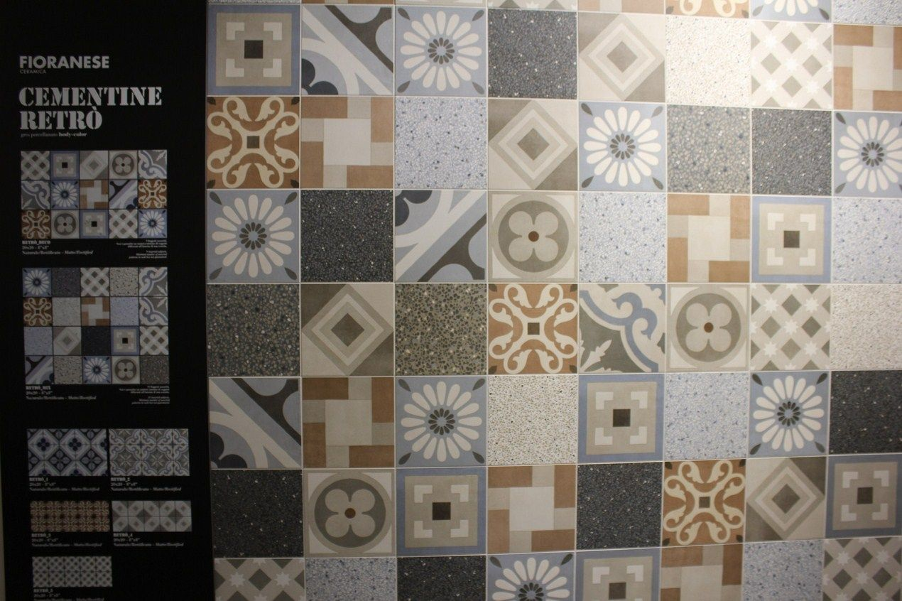 Cementine retro is a charming imitation of cement tiles by