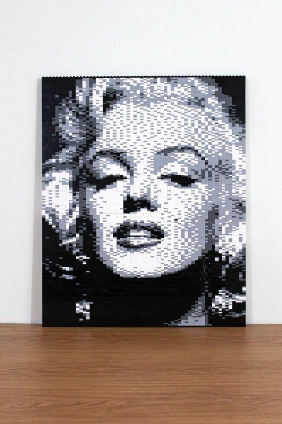 Hey, I found this really awesome Etsy listing at https://www.etsy.com/listing/248564875/marilyn-monroe-lego-mosaic-19-x-23