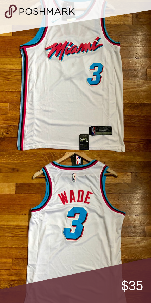 online retailer f5935 b4be3 NWT Dwayne Wade Miami Vice / Heat Jersey Medium Brand New w ...