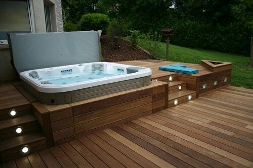 Photo of #jacuzzi #outdoorspa #spadeck #hottub #outdoorspa