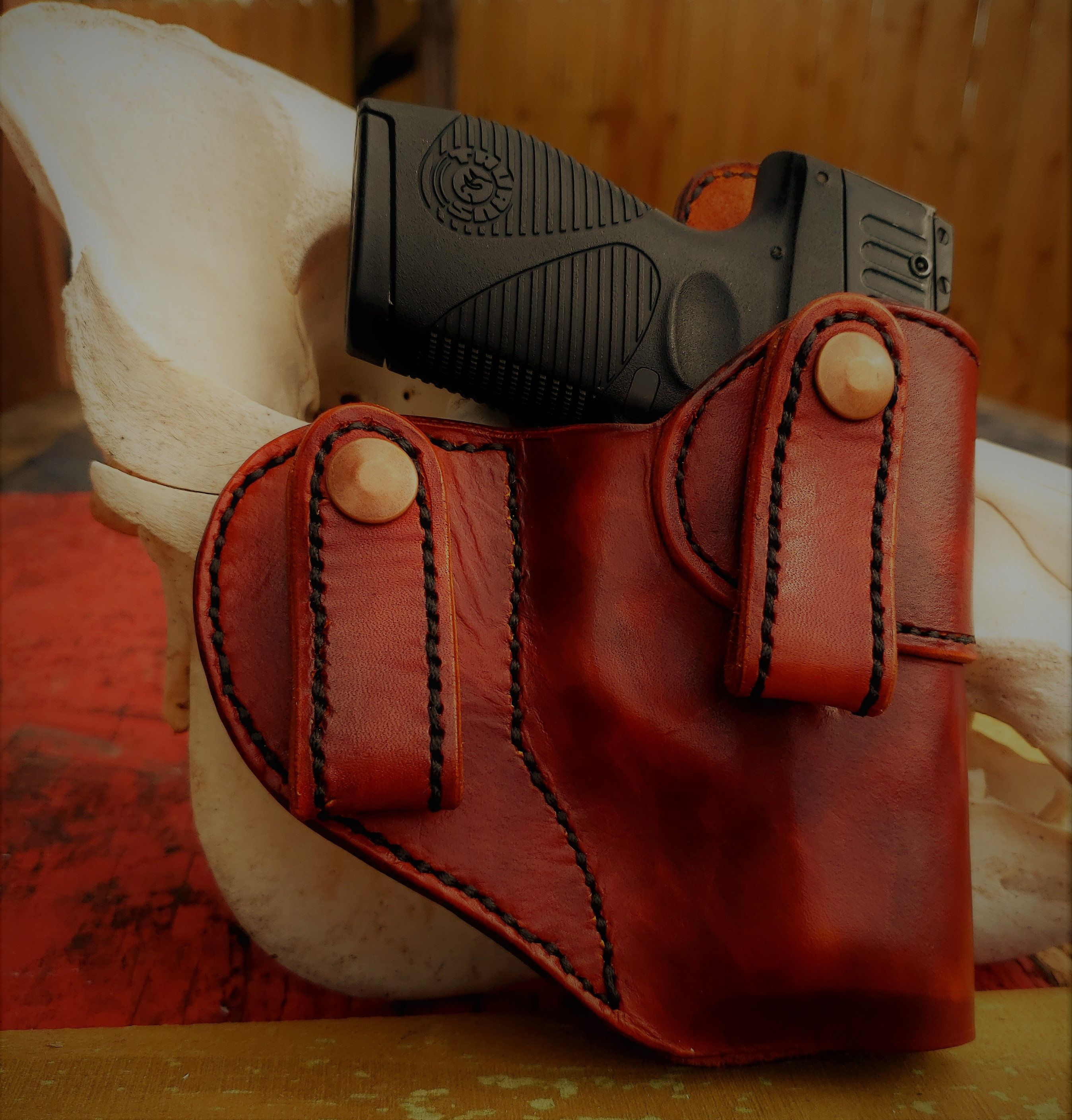 The HOSS IWB Leather Holster, CCW Holster by