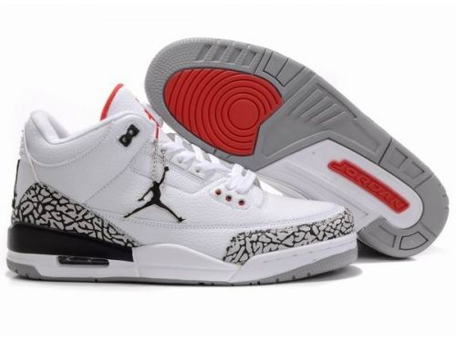 outlet store b68cb 8e25f Air Jordan 3 Retro White Black Cement Grey is now available. This classic  basketball shoe features materials including suede and a quilted leather  upper.