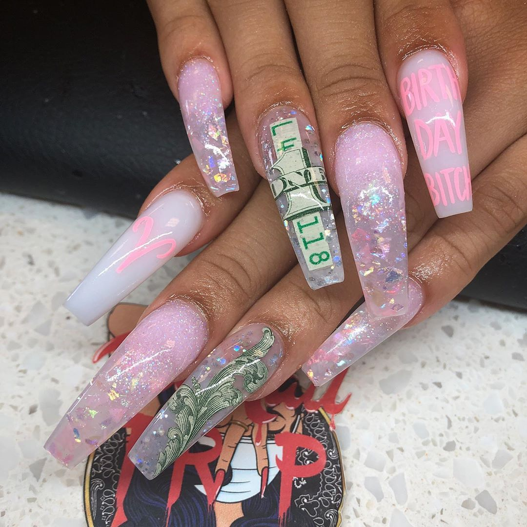 The Nail Trap On Instagram Aries Szn Book Now Link In Bio 20 Deposit To Cash App Req 21st Birthday Nails Coffin Nails Designs Birthday Nails