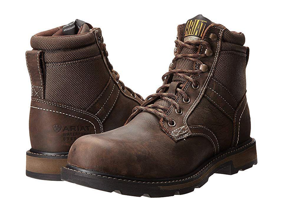 131c909ce47 Ariat Groundbreaker 6 H2O Steel Toe Men's Work Boots Dark Brown/Dark ...