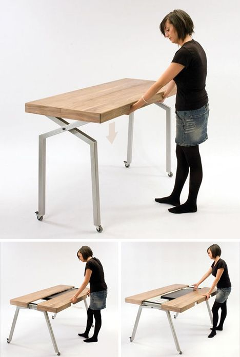 Expandable Dining Table Doubles As Compact Kitchen Island Mais
