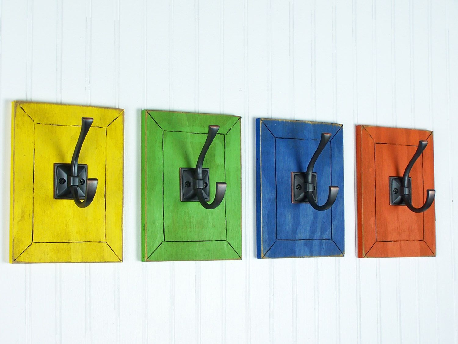 Kids Bedroom Hooks colorful wall art decorative wall hooks rainbow decor kids bedroom
