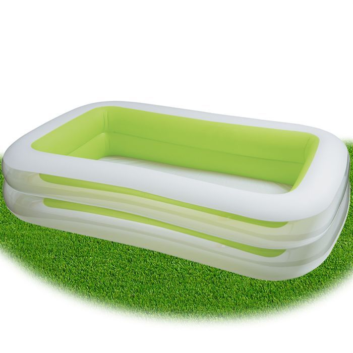 Piscine gonflable verte for Petite piscine gonflable bebe