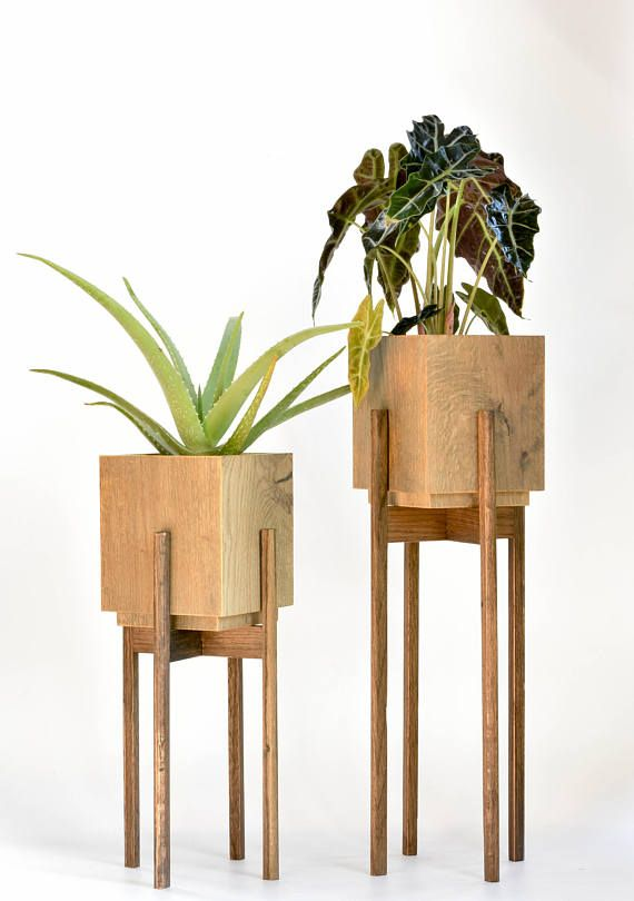 large mid century plant stand with pot plant stands indoor happy etsy sellers group board. Black Bedroom Furniture Sets. Home Design Ideas