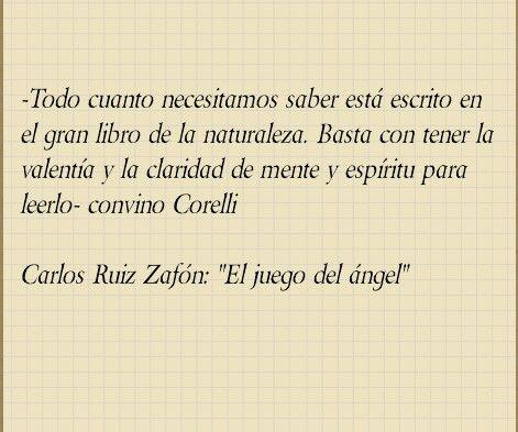 Carlos Ruiz Zafón El juego del ángel Literatura | El cementerio de ...