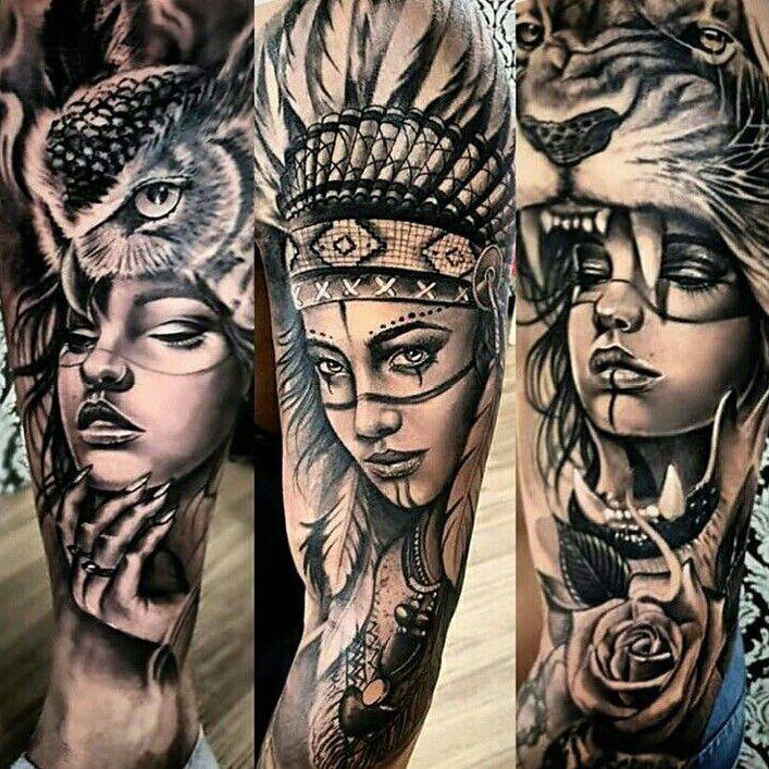 Tattoovorlagen Indianer Kopfschmuck Feder