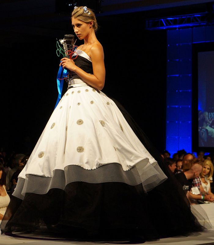 Watch These Geeky Gowns Walk Down The Runway From A Dalek Wedding Dress To An Effie Inspired Creation