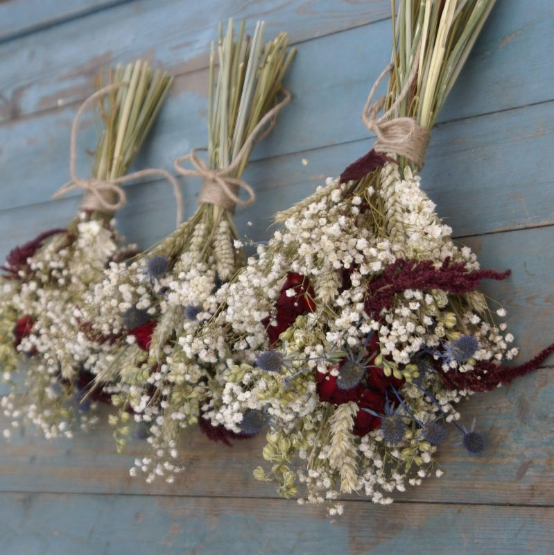 Rustic dried bouquet look | Patty & Sean\'s Wedding~Rustic&Red ...
